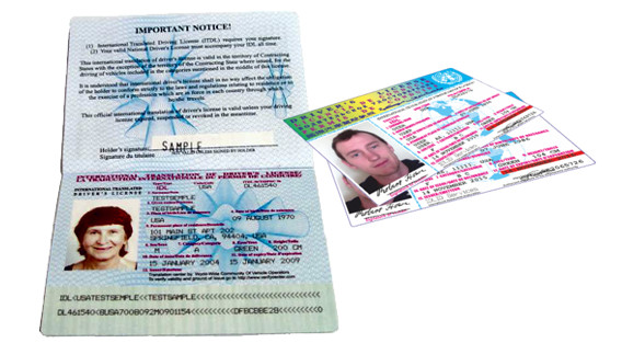 International drivers license.
